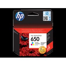 Cartus cerneala HP650 color original, CZ102AE
