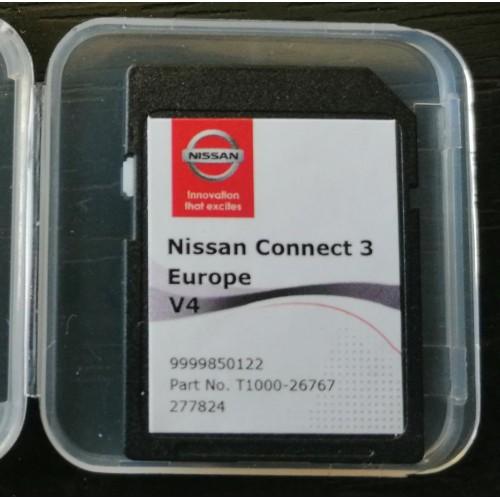 Card harti navigatie GPS 2020 Nissan Micra Note Pulsar Juke X-trail Navara Qashqai Tiida
