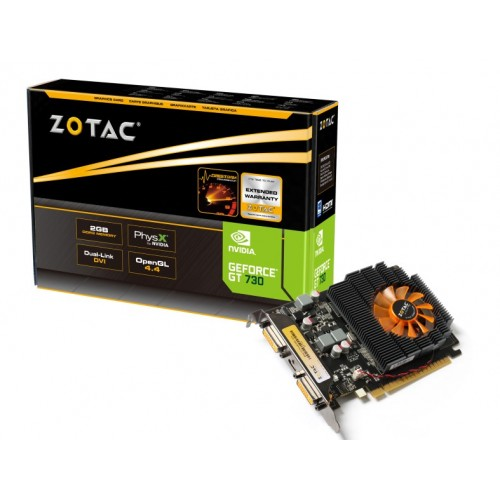 Placa video Zotac GeForce GT730 2GB DDR3 128bit ZT-71103-10L