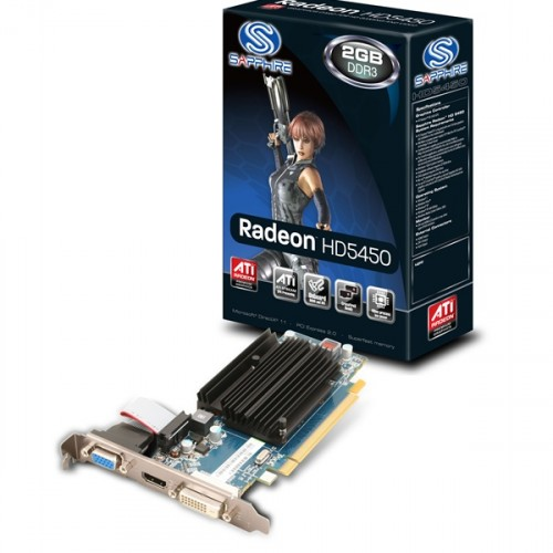 Placa video Sapphire Radeon HD5450 2GB DDR3/64bit, 11166-45-20G