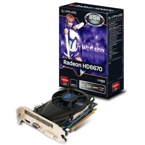 Placa video Sapphire Radeon HD6670 2GB GDDR3 128bit, 11192-11-20G